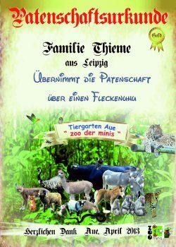 Gold 05 Familie Thieme Fleckenuhu